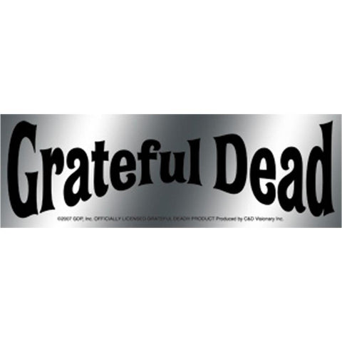 The Grateful Dead Band Name Chrome Sticker