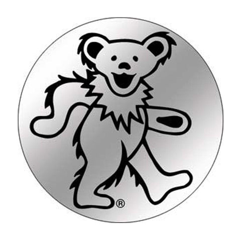 The grateful dead dancing bear button