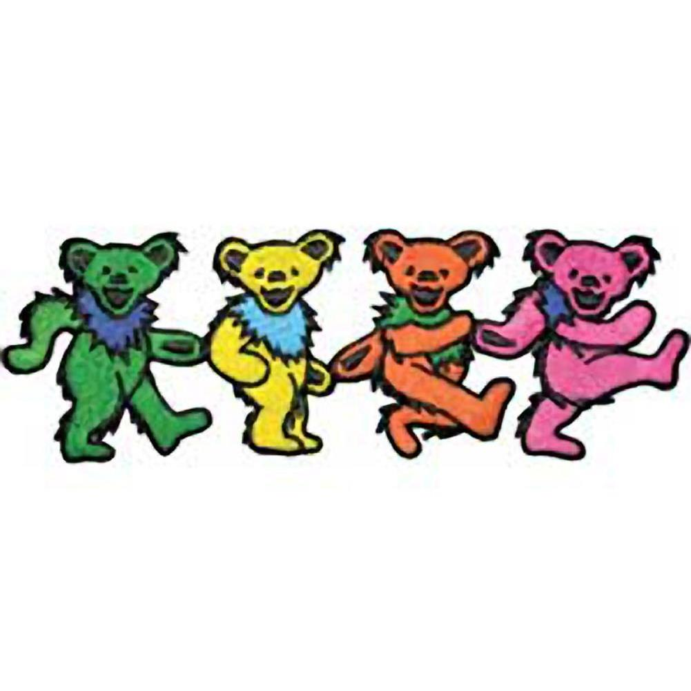 The Grateful Dead Four Dancing Bears Embroidered Patch