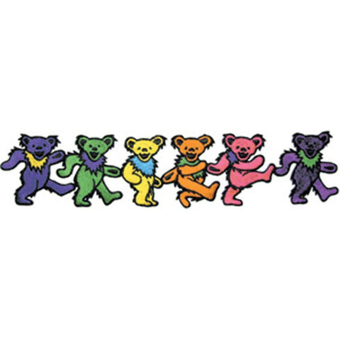 The Grateful Dead Dancing Bears Strip Embroidered Patch