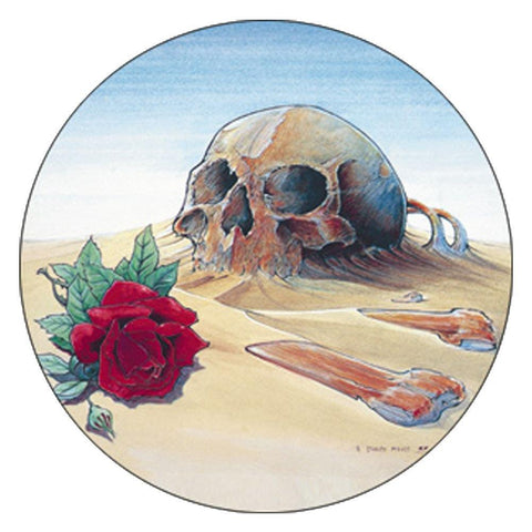 The Grateful Dead Europe 81 Skull Button