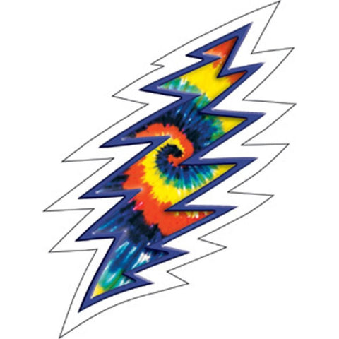 The Grateful Dead Lightning Bolt Tye Dye Sticker