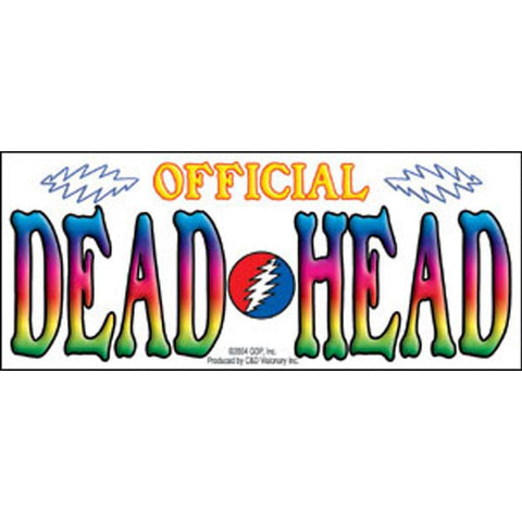 The Grateful Dead Official Dead Head Clear Sticker