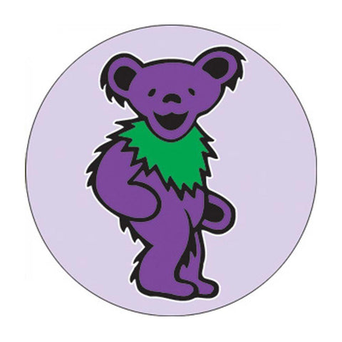 The Grateful Dead Purple Dancing Bear Button
