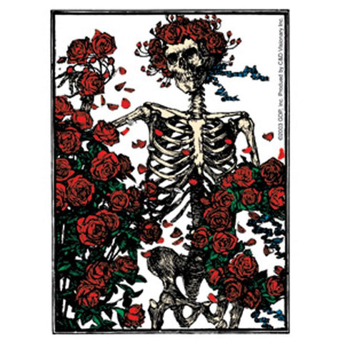 The Grateful Dead Skeleton And Roses Clear Sticker