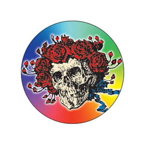 The Grateful Dead Skull And Roses Rainbow 1 Inch Button