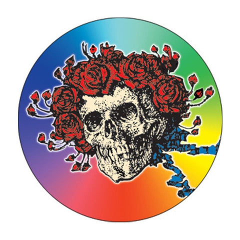 The Grateful Dead Skull And Roses Rainbow 1.5 Inch Button
