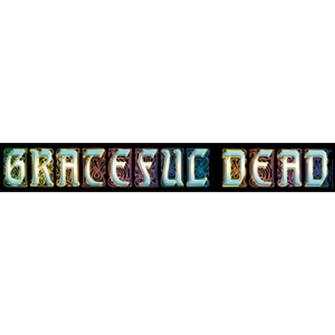 The Grateful Dead Stained Glass Band Name Logo Sticker