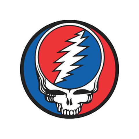 The Grateful Dead Steal Your Face Button - Medium