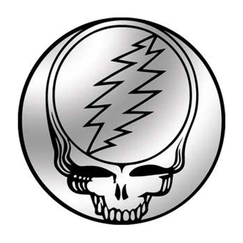 The Grateful Dead Steal Your Face Chrome Button