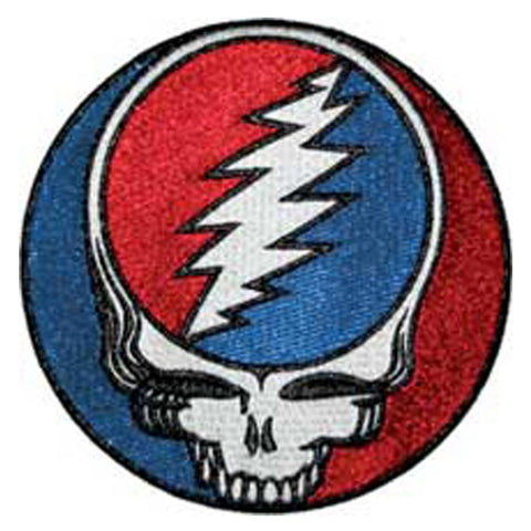 The Grateful Dead Steal Your Face Glitter Embroidered Patch