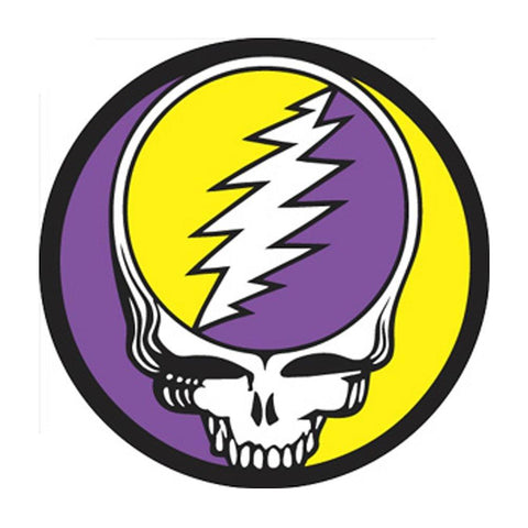 The Grateful Dead Steal Your Face Purple & Yellow Button