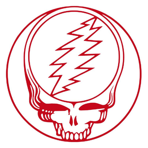 The Grateful Dead Steal Your Face Rub-On Sticker - Red