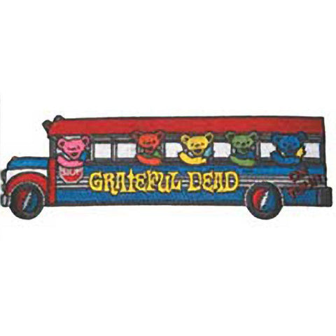 The Grateful Dead Tour Bus With Bears Embroidered Patch