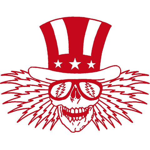 The Grateful Dead Uncle Sam Rub-On Sticker - Red
