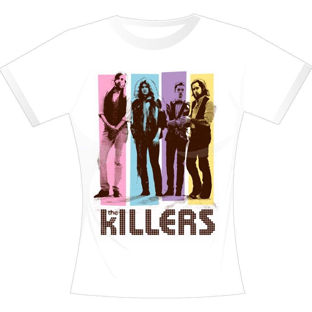 a48a2a2aa The Killers Band White Color Block Women's T-Shirt – RockMerch