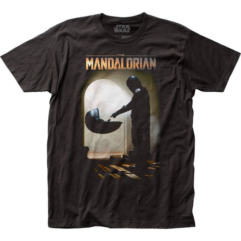 The Mandalorian Mando Meets The Child Fitted Jersey Tee