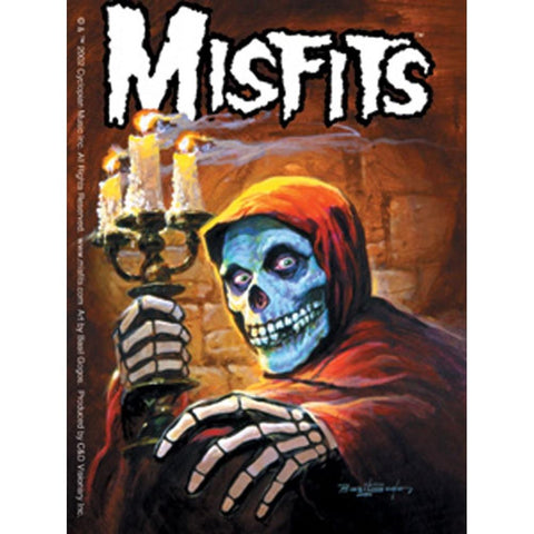 The Misfits Candleabra And Skeleton Sticker