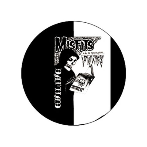 The Misfits Evilive Fangs Button
