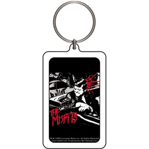 The Misfits Kennedy Bullet Lucite Keychain