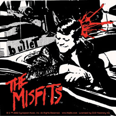 The Misfits Kennedy Bullet Square Sticker
