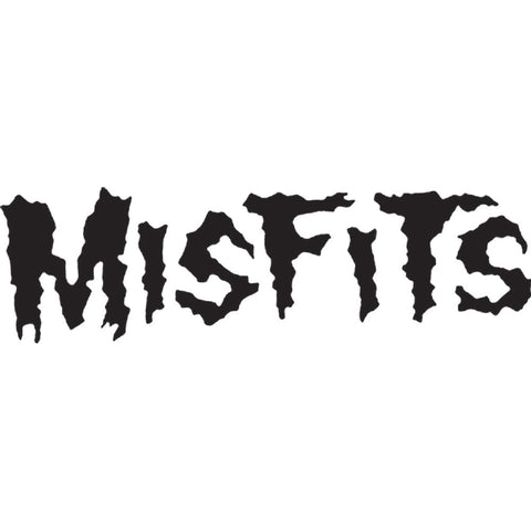 The Misfits Logo Rub-On Sticker - Black