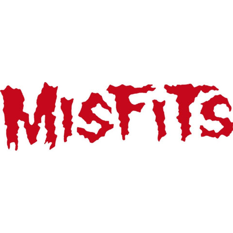 The Misfits Logo Rub-On Sticker - Red