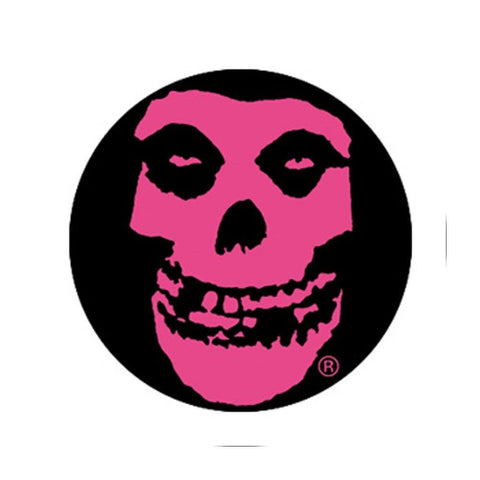 The Misfits Pink Skull Button