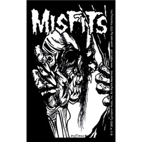 The Misfits Pushead Eyeball Black and White Sticker