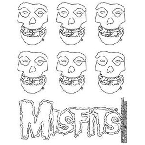 The Misfits Skull Logo Sticker Set