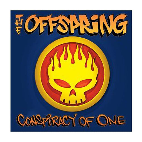 The Offspring Flaming Skull Logo Button