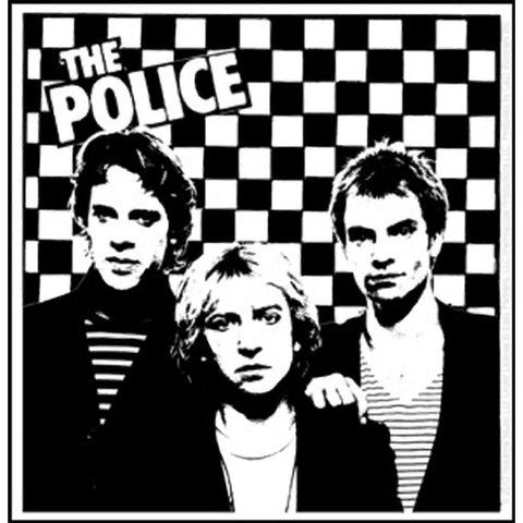 The Police Checkered Photo Sticker
