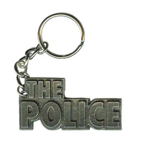 The Police Logo Metal Keychain