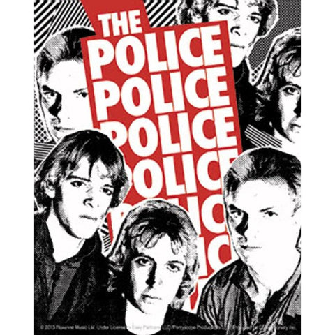 The Police White Photo Sticker