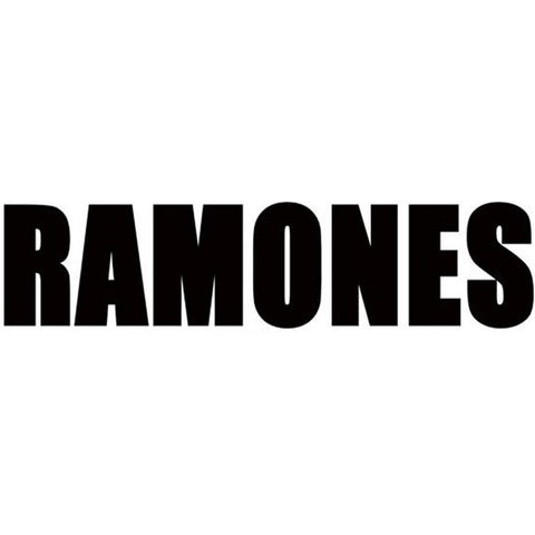 The Ramones Logo Rub-On Sticker - Black