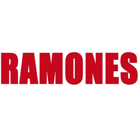 The Ramones Logo Rub-On Sticker - Red