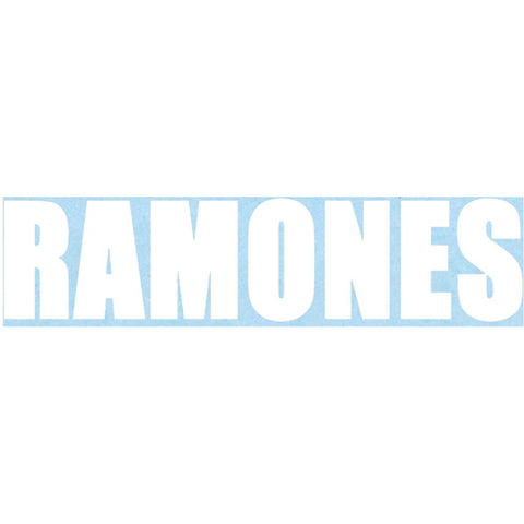 The Ramones Logo Rub-On Sticker - White