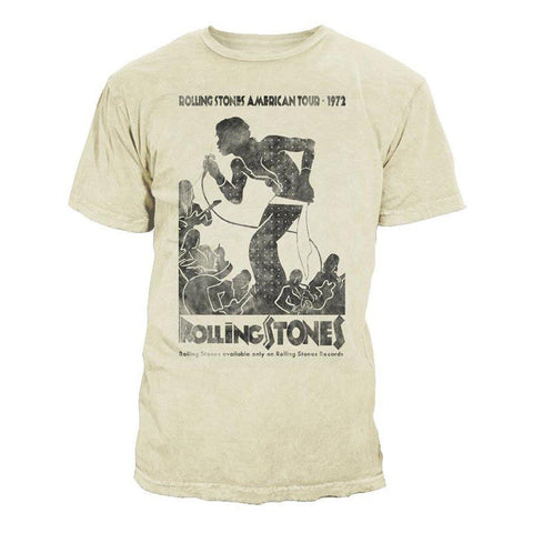 The Rolling Stones Vintage Tour Poster Premium Cotton Enzyme Washed Men's T-Shirt