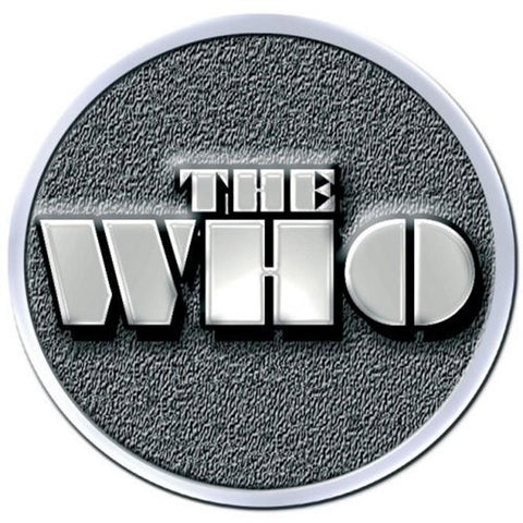 The Who Stencil Logo Button