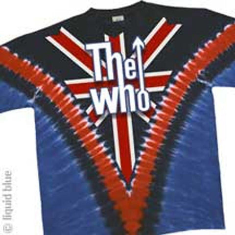The Who Union Jack Logo V-Dye Men's T-Shirt