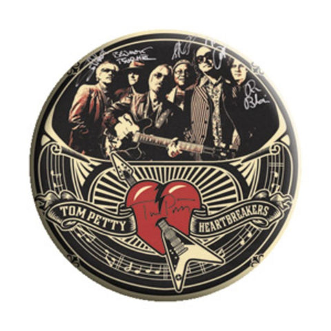 Tom Petty Autographs Button