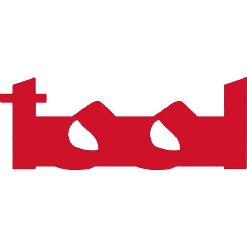 Tool Logo Rub On Sticker - Red