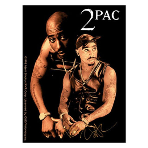 Tupac Double Shot Sticker