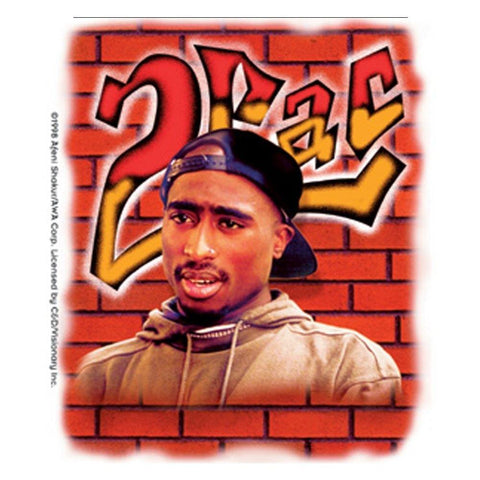 Tupac Brick Wall Graffiti Sticker