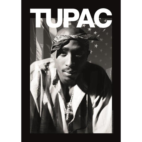 Tupac Head On Fabric Poster
