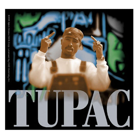Tupac Middle Finger Sticker