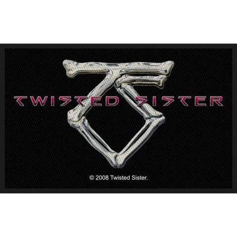 Twisted Sister Bone Woven Sew-on Patch