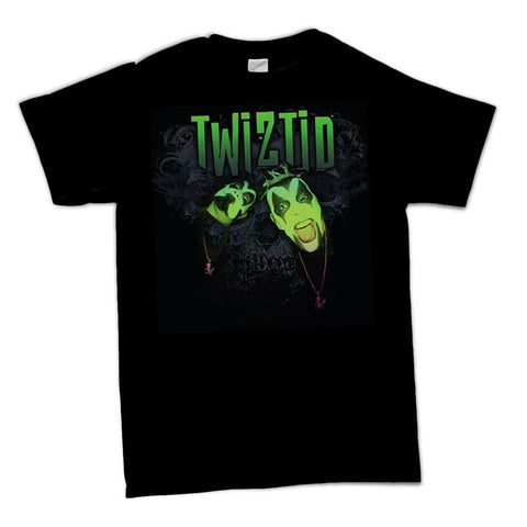 Twiztid Lp05 Green Face Logo Men's T-Shirt