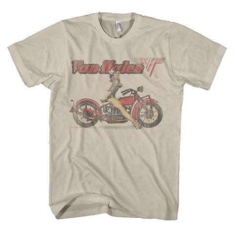 Van Halen Biker Pin Up Men's T-Shirt