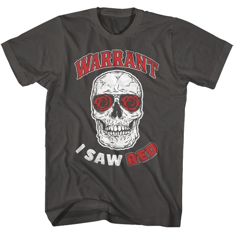Warrant Special Order Saw Red Adult S/S T-Shirt
